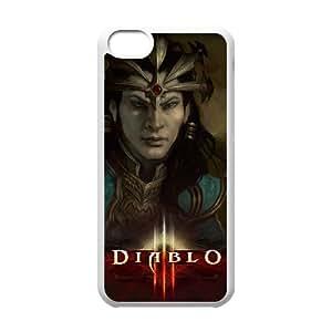 Diablo Iii 7 funda iPhone 5c caja funda del teléfono celular del teléfono celular blanco cubierta de la caja funda EEECBCAAB13123