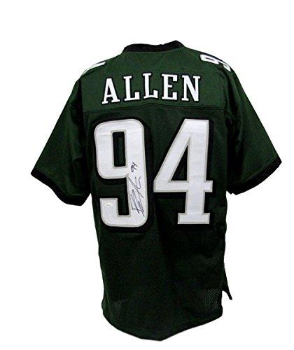 Beau Allen Philadelphia Eagles Autographed/Signed Jersey Green XL JSA 135296 (Green Signed Eagles Jersey)