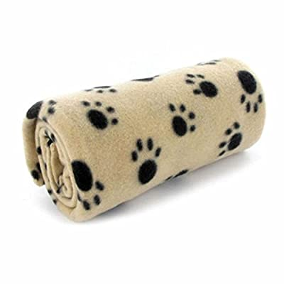 GOOTRADES Paw Print Pet Dog Cat Puppy Soft Blanket Mat Cover Cushion by GOOTRADES