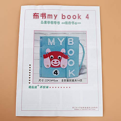 X-CRAFT Handmade Baby Book Soft Books Infant Early Cognitive Development My Bookgoodnight Educational Unfolding Cloth Book Activity Book by X-CRAFT