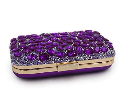Purple Femenino Bolso De Tarde Bolso Señoras Tarde del Bolso Black De De Las del Hombro Embrague Bolso Bolso De fgz8TfwqCx
