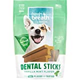 Fresh Breath by TropiClean Dental Sticks for Small Dogs (5-25 Pounds), 12ct, 8oz, Made in USA - Removes Plaque and Tartar