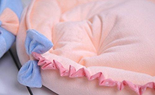Medium Dog Bed New Cute Princess Soft&cozy Pet Dog Cat Sofa Bed House Kennel Blue,beige Size M Cat Pet Beds (Beige)