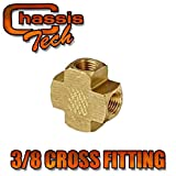 CHASSIS TECH Air Compressor Female Cross Coupling 3/8'' X 3/8'' X 3/8'' NPT