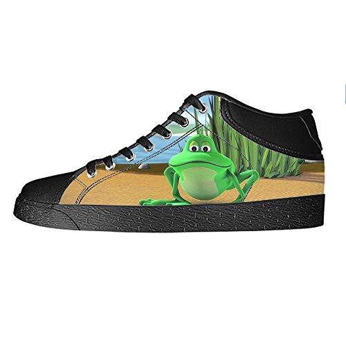 Custom Rana divertente Womens Canvas shoes I lacci delle scarpe scarpe scarpe da ginnastica Alto tetto Sneakernews Baratos Ofertas itl4z0N