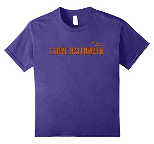 Family Friendly Costumes (Kids Family Friendly Costume Idea I Love Halloween T-Shirt 8 Purple)
