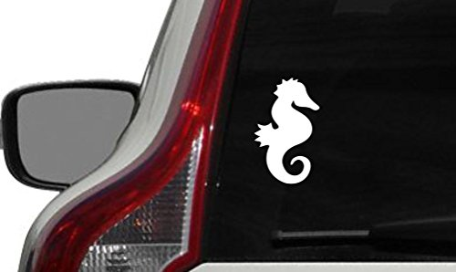 Seahorse Version 1 Car Vinyl Sticker Decal Bumper Sticker for Auto Cars Trucks Windshield Custom Walls Windows Ipad Macbook Laptop and More (WHITE)