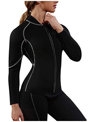 Gotoly Women Hot Sweat Weight Loss Long Sleeve Shirt Neoprene Body Shaper (XX-Large, Black-Long Sleeve) ()