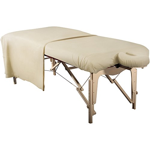 Master Massage Tables Deluxe Flannel Sheet Cover Set (3pcs Set) for Massage Table, Pure White