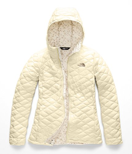The North Face Women's Thermoball Hoodie - Vintage White & Vintage White Sparse Triangle Print - XL