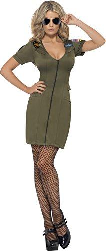 Smiffy's Women's Sexy Top Gun Costume Medium Multicoloured (Womens Top Gun Fancy Dress)
