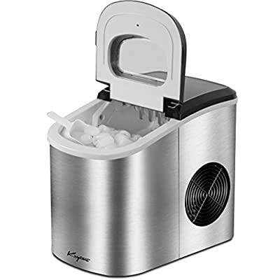 Keyton Portable Ice Maker with Basket, Stainless Steel, 26 Pounds (2 Sizes)