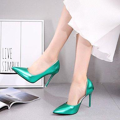 LvYuan Mujer Sandalias Confort PU Verano Confort Tacón Stiletto Café Verde Rosa 12 cms y Más Green