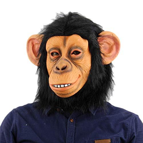 Animal Masks Monkey Mask Latex Animal Head Mask for Halloween Costume Novelty Monkey Gorilla Head Mask -