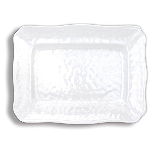 Michel Design White on White Large Melamine Platter