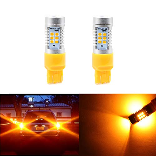 01 Prelude Rear Driver Honda - Turn Signal Bulbs 7440 7441 7443 7444, Extremely Bright Amber Yellow Light w/21 SMD LED Bulbs for Turn Signal Blinker Lights, Sidemarker Lights, Corner Lights (Pack of 2)