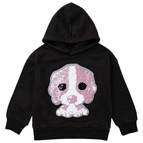 Girls Boys Children Magic Sequin Hoodie Sweatshirt Cotton Pullover Top ()