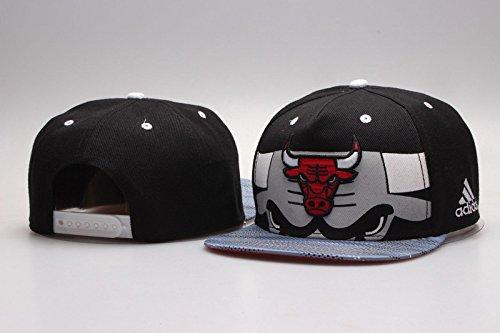 Chicago Bulls Home NBA Black Adjustable Hat