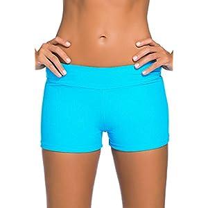 Aleumdr Women's Wide Waistband Swimsuit Bottom Shorts Swimming Panty