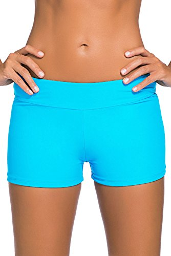 Aleumdr-Womens-Wide-Waistband-Swimsuit-Bottom-Shorts-Swimming-Panty