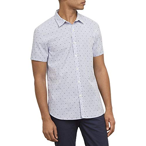Kenneth Cole New York Short Sleeve Dobby Dot Shirt