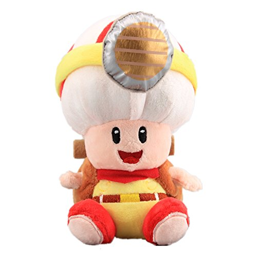 UiUoU Super Mario Bros. Sitting Pose Captain Toad Plush Toy Doll (Cheap Mario Plushies)