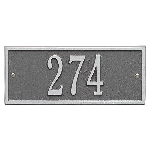 Personalized Whitehall Hartford 1-Line Mini Wall Plaque in Pewter/Silver (Hartford Plaque Wall)
