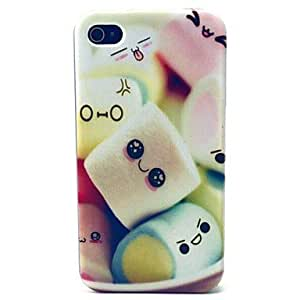 QJM Cotton Candy Pattern TPU Soft Case for iPhone 4/4S