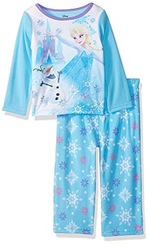 Disney Girls' Toddler Frozen Elsa 2-Piece Fleece Pajama Set, ICY Olaf, 3T]()
