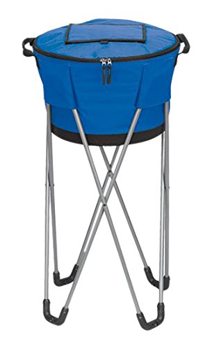 bellino-collapsible-barrel-cooler-with-stand-blue