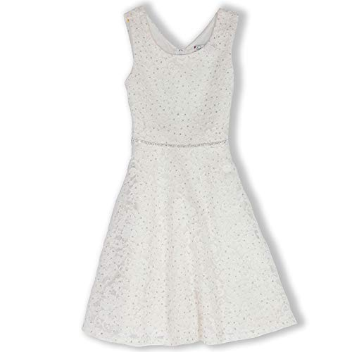 Speechless Girls' Big Sparkle Lace Skater Dress with