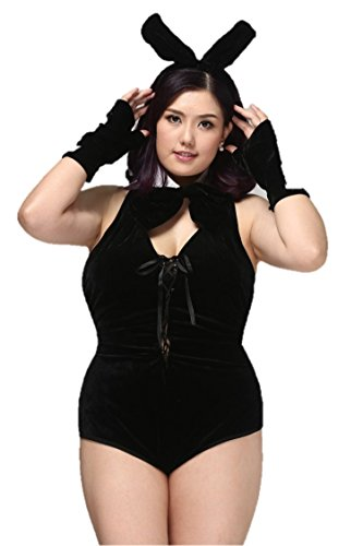 Halloween Costumes For Curvy Girls (CNS Bunny Girl Costume [ Black XXL size 6 item ])