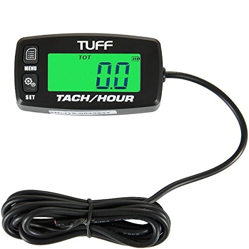 TUFF Hour / Tach Meter UNIVERSAL Digital Waterproof Backlit Tachometer RPM Gauge Lighted Display for - ATV PWC Outboard Yamaha Honda Engines Polaris Pumps Generators Boats Motorcycles Scooters