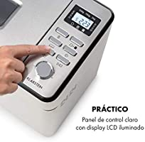 Klarstein Brotilde Family Breader - 14 programas, 3 niveles diferentes de dorado, 1h- función de calentamiento, temporizador 13h, pantalla LCD, ...