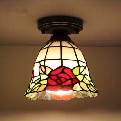 7 cm rosas rojas europeo Tianyuan Yang Tiffany lámparas ...