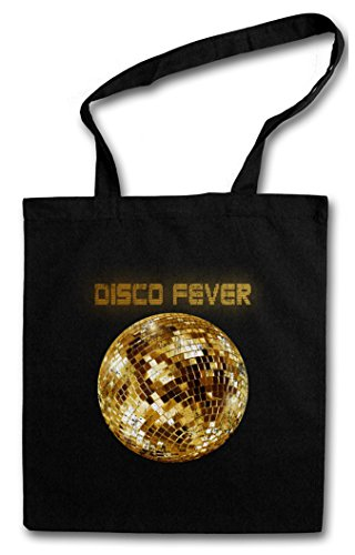 DISCO LIGHT II HIPSTER BAG – Luce Retro Oldies Music Musik Nerd Techno Indie Electro Wave New Hipster Club Clubbing Rave Cyber Dance Mirror Ball Starlight Star 70s 80s 90s