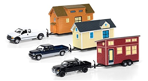 Johnny Lightning JLTH001-A Tiny Houses Set of 3 Trucks, Release A 1/64 Diecast Model ()