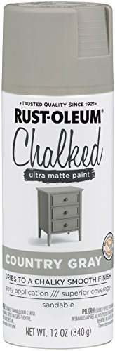 Rust-Oleum Series Rustoleum 302593 12OZ Country Gray Chalked Paint Spray, (Light Furniture Wood Gray)