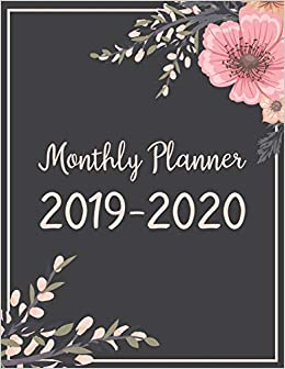 monthly planner 2019 2020 january 2019 december 2020 monthly calendar planner with unruled daily blocks jada correia