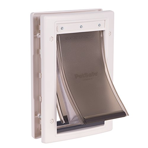 PetSafe Extreme Weather Energy Efficient Pet Door, Unique 3 Flap System, White, for Small Dogs and Cats under 15 lb.