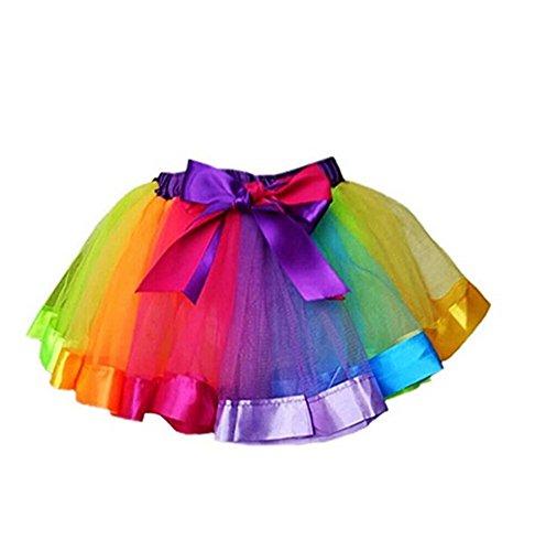 Little Kids Girls Rainbow Skirt Cute Tutu Dance Ballet Party Dress