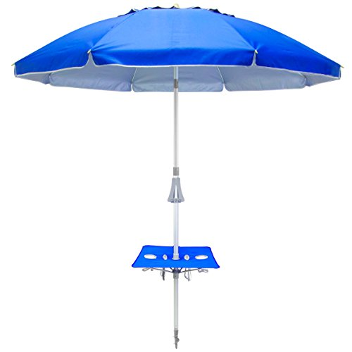 (Shade Mate Instant Table Tray Beach Umbrella w/Anchor )