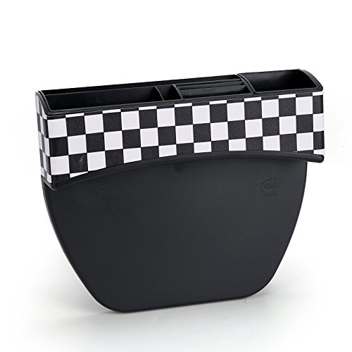 Areyourshop Car Seat Gap Catch Catcher Storage Box Key Card Phone Pocket Storage Organizer C