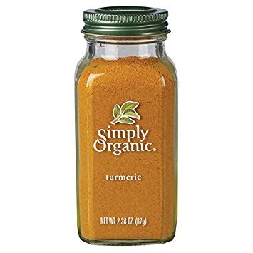Simply Organic Turmeric Root Ground Certified Organic, 2.38-Ounce Container (Pack of 2)