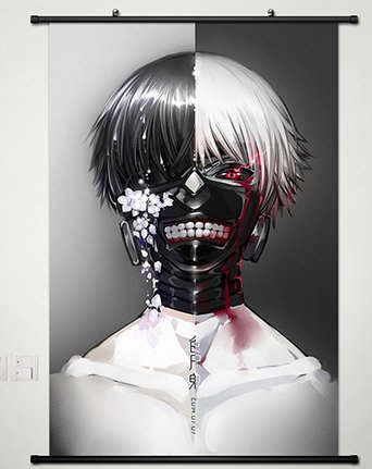 Tokyo Ghoul Home Decor Anime Kaneki Ken Wall Scroll Poster Japanese Cosplay  23 6 x 35 4 inches - 037