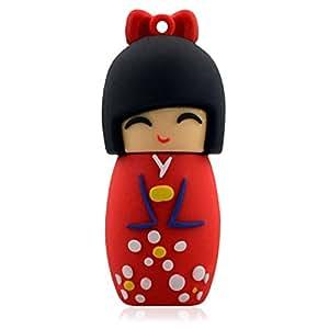 Hi-SPEED MEMORIA USB PENDRIVE 32GB FLASH FIGURA MONO kimono rojo + una bolsa ESCOO gratis