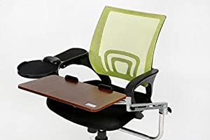 er laptop tray with chair mount armrest mouse and keyboard pc chair mount wrist. Black Bedroom Furniture Sets. Home Design Ideas