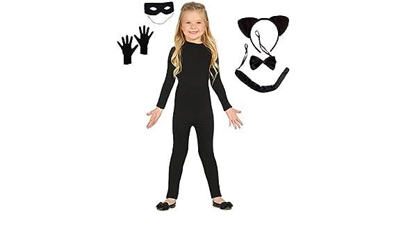Disfraz inspirado en Cat Noir (Ladybug). Incluye: Maillot, antifaz ...