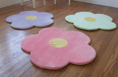 Flower Area Rug for Kids Girls Room, Girls Area Rugs, Girls Room & Baby Nursery Floor Rugs, Kids Room Decorative 25