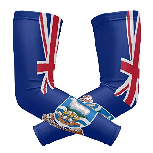 (Falkland Islands Flag 1 Pair UV Protection Cooling Long Sports Arm Sleeve )